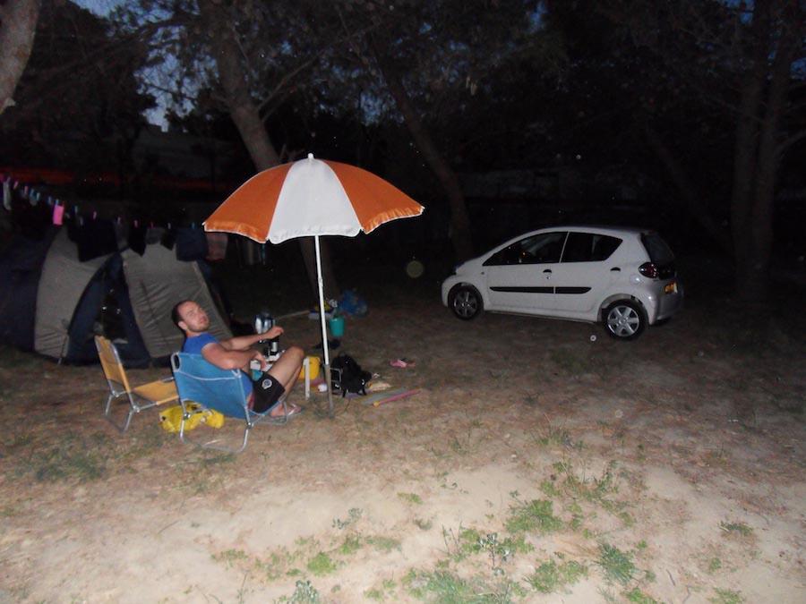 Onze mooie plek op de camping