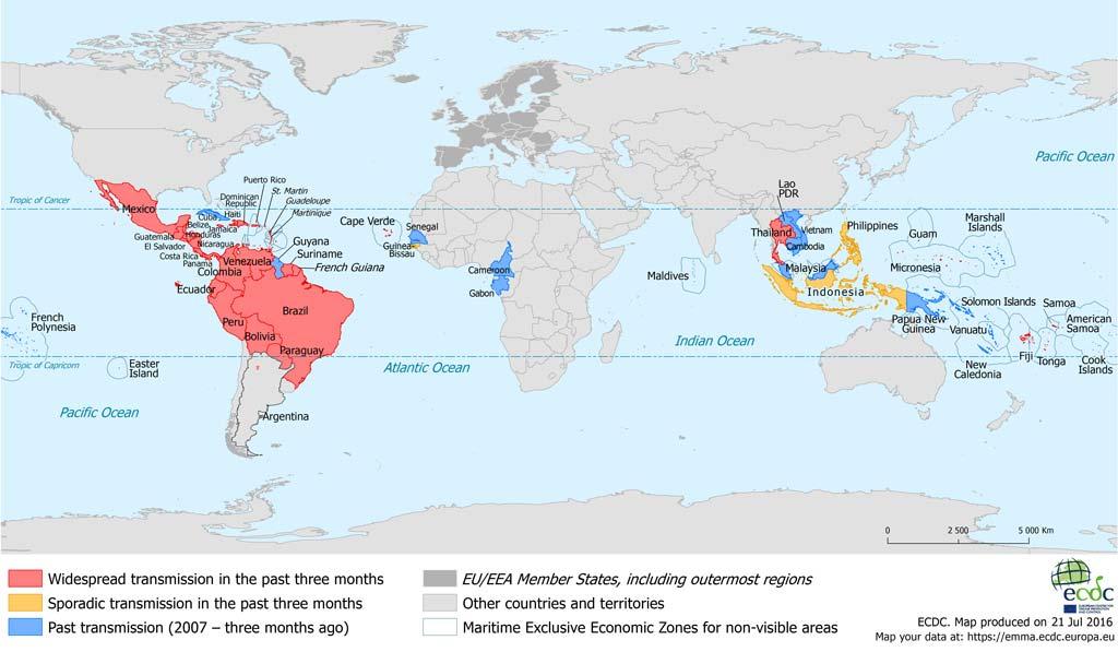 map zika virus