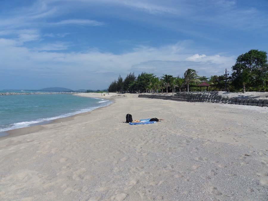 Het hele strand voor onszelf!